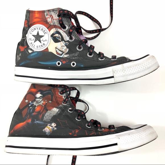 bb7ef498fcec Converse Shoes - Converse Harley Quinn DC Comics Mens 6 Womens 8